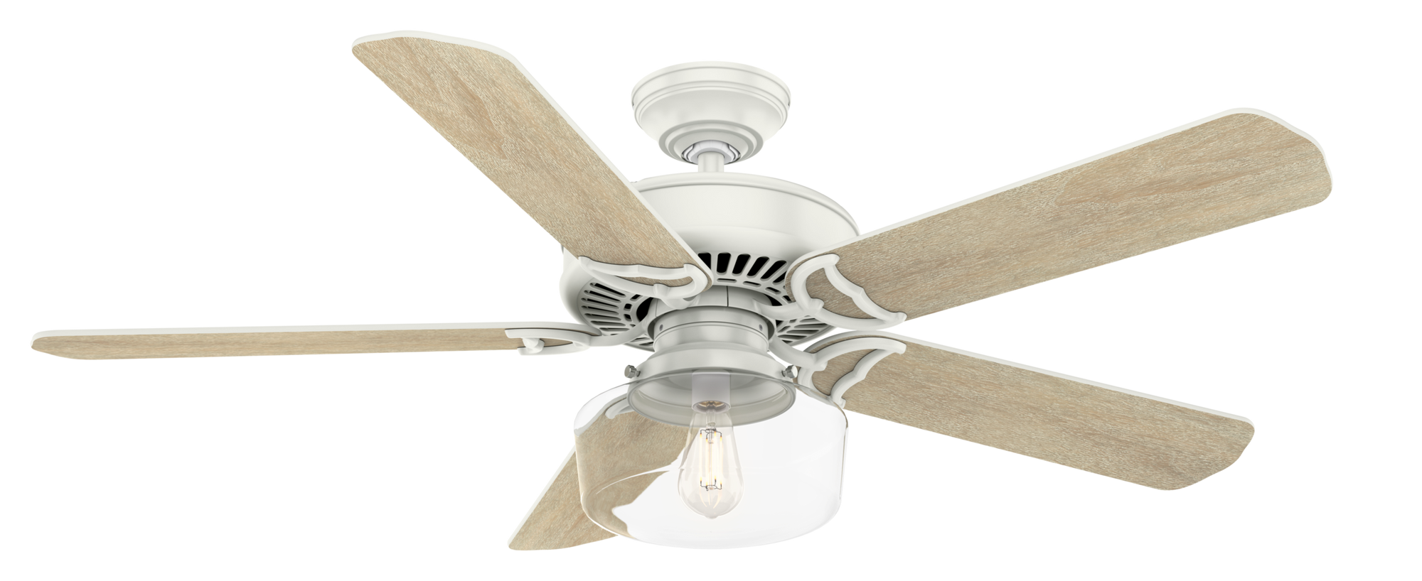 Casablanca Indoor Panama Ceiling Fan with LED LightJD inch, White, 55082