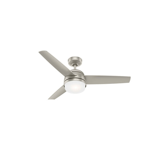 Hunter Indoor Midtown Ceiling Fan with LED LightJD inch, Brushed Nickel/Chrome, 54212