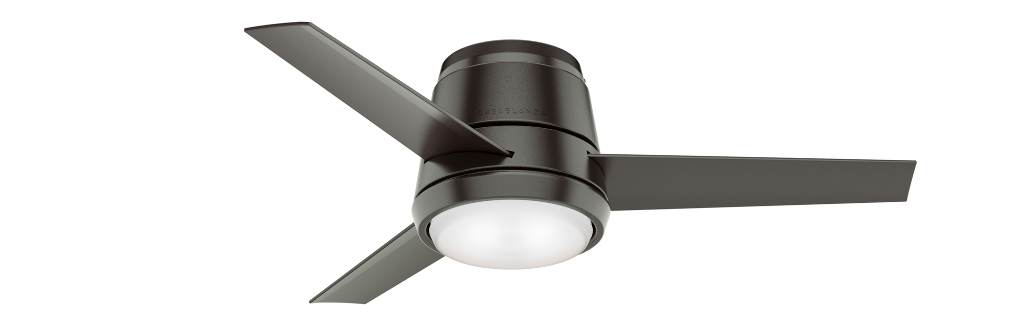 Casablanca Indoor Low Profile Commodus Ceiling Fan with LED LightJD inch, Bronze/Brown, 59569