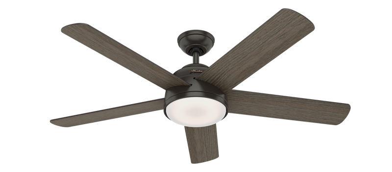 Hunter Indoor Romulus Ceiling Fan with LED LightJD inch, Bronze/Brown, 59479