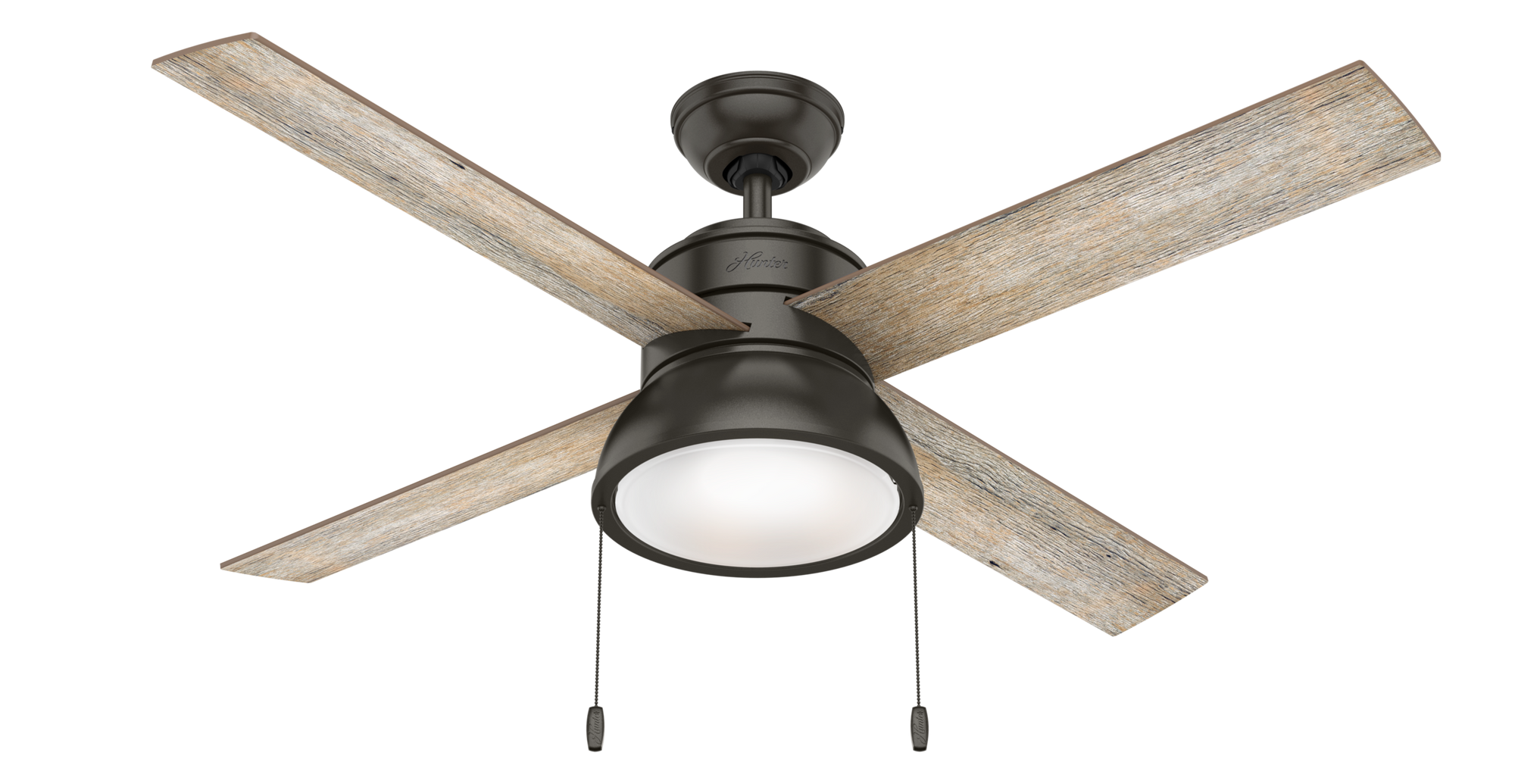 Hunter Indoor Loki Ceiling Fan with LED LightJD inch, Bronze/Brown, 54152