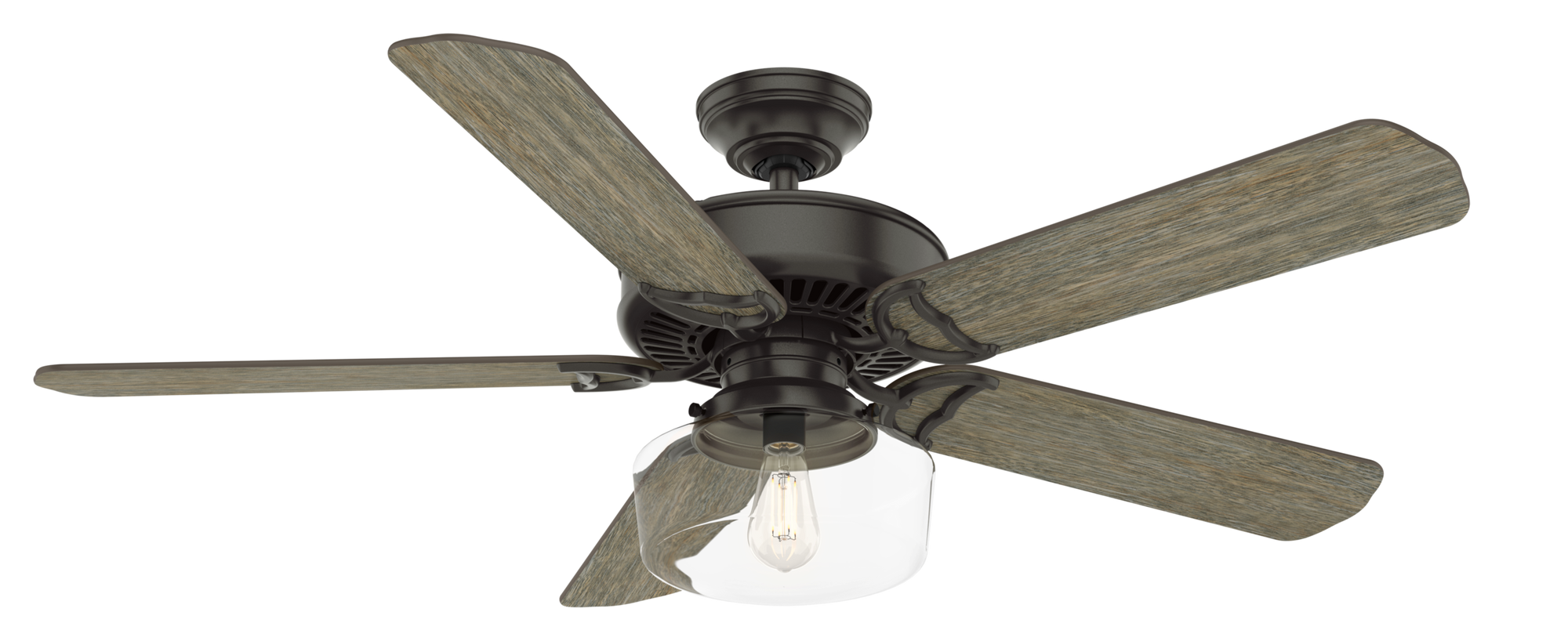 Casablanca Indoor Panama Ceiling Fan with LED LightJD inch, Bronze/Brown, 55083