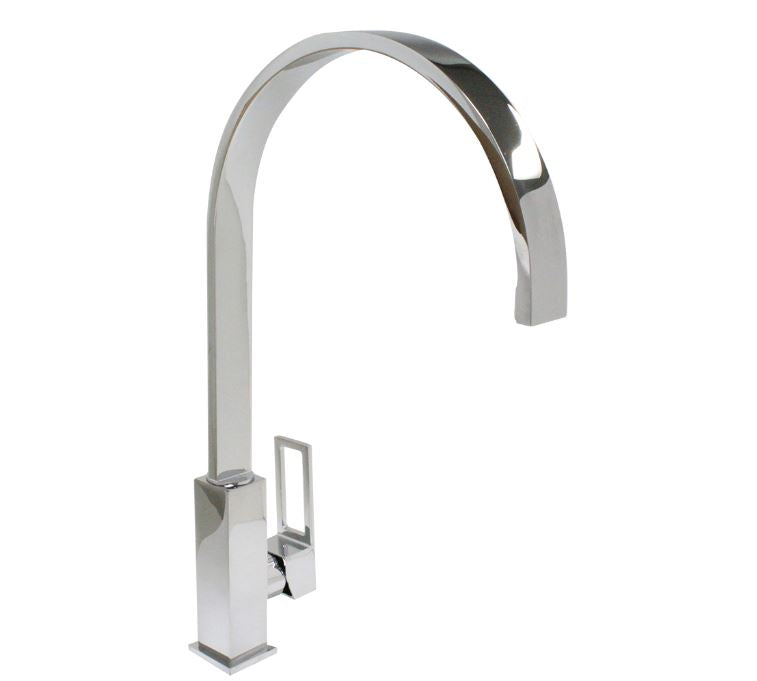 500680-PCH  Ottone Meloda Fortina single hole, single handle kitchen faucet, Polished Chrome
