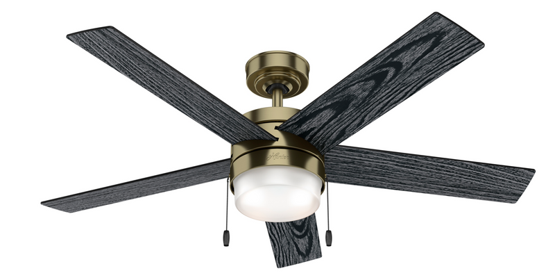 Hunter Indoor Claudette Ceiling Fan with LED LightJD inch, Brass, 59622