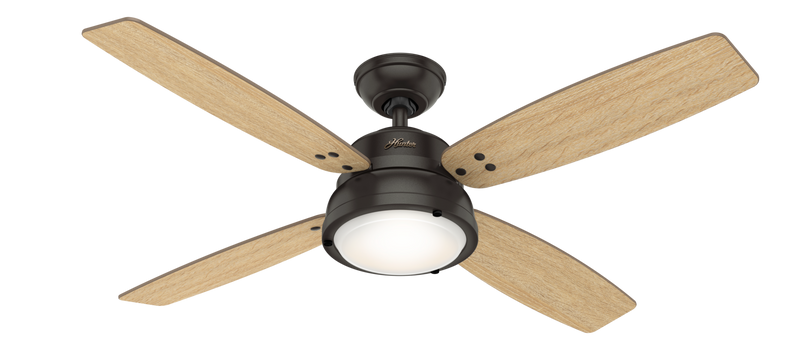 Hunter Indoor Wingate Ceiling Fan with LED LightJD inch, Bronze/Brown, 59437