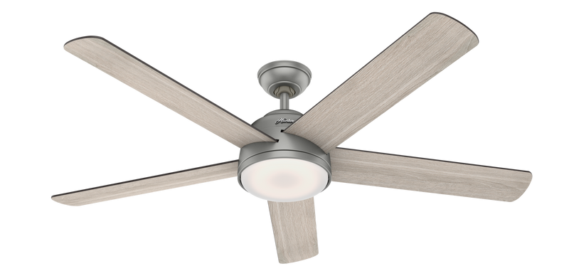 Hunter Indoor Romulus Ceiling Fan with LED LightJD inch, Brushed Nickel/Chrome, 59486