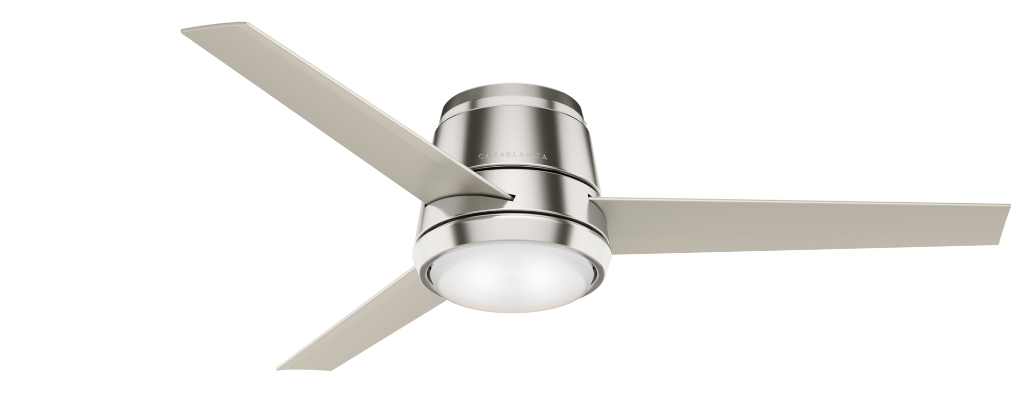 Casablanca Indoor Low Profile Commodus Ceiling Fan with LED LightJD inch, Brushed Nickel/Chrome, 59573