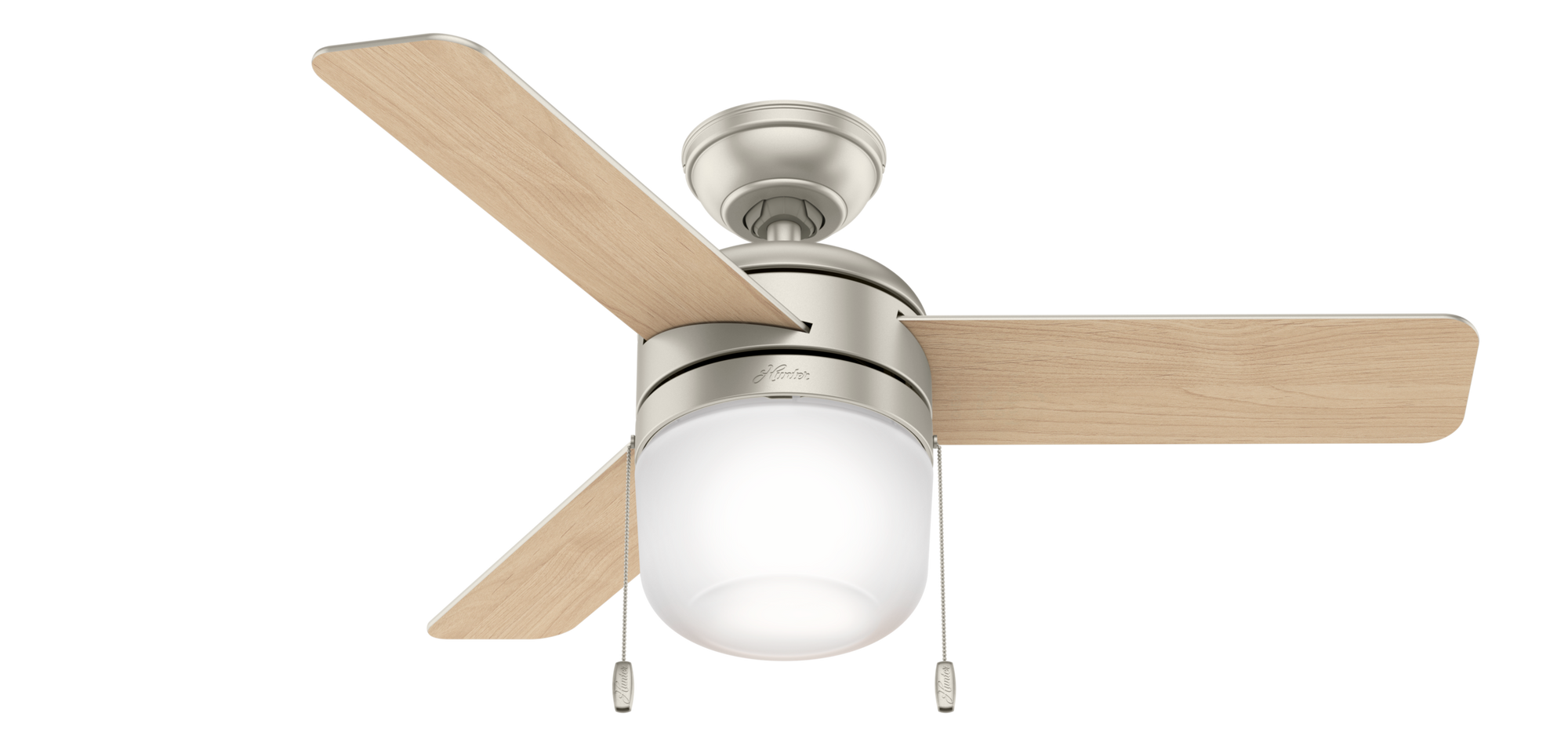 Hunter Indoor Acumen Ceiling Fan with LED LightJD inch, Brushed Nickel/Chrome, 59411