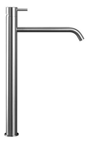 Blu Bathworks TOX103-S Inox Stainless Steel Raised Deck-Mount Single-Lever Sink Faucet Satin Finish