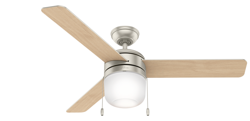 Hunter Indoor Acumen Ceiling Fan with LED LightJD inch, Brushed Nickel/Chrome, 59405