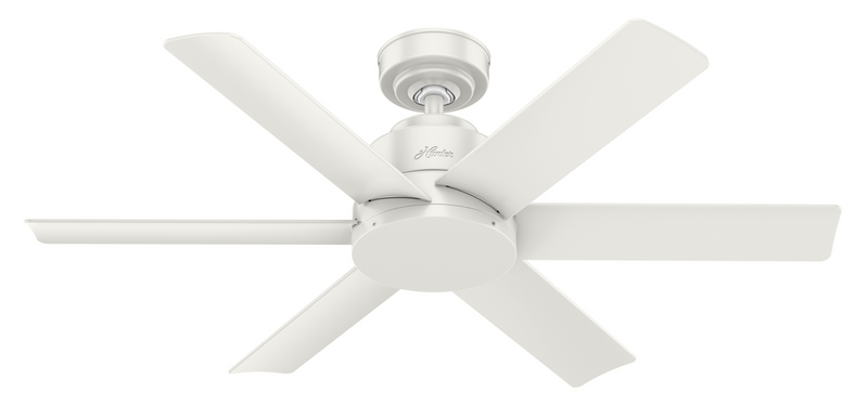 Hunter Indoor/Outdoor Kennicott Ceiling Fan without LightJD inch, White, 59614
