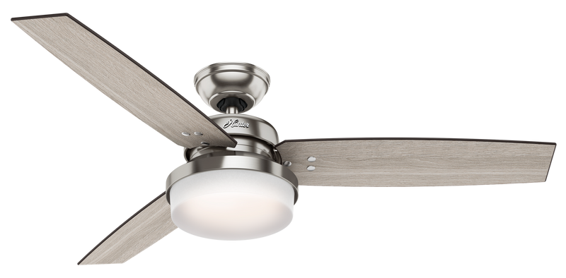 Hunter Indoor Sentinel Ceiling Fan with LED LightJD inch, Brushed Nickel/Chrome, 59157