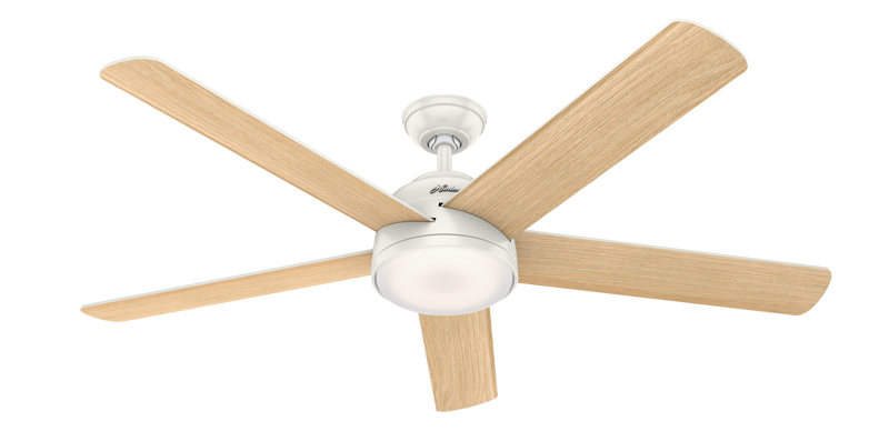 Hunter Indoor Romulus Ceiling Fan with LED LightJD inch, White, 59484
