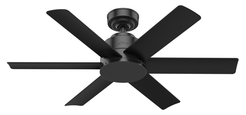 Hunter Indoor/Outdoor Kennicott Ceiling Fan without LightJD inch, Black, 59613