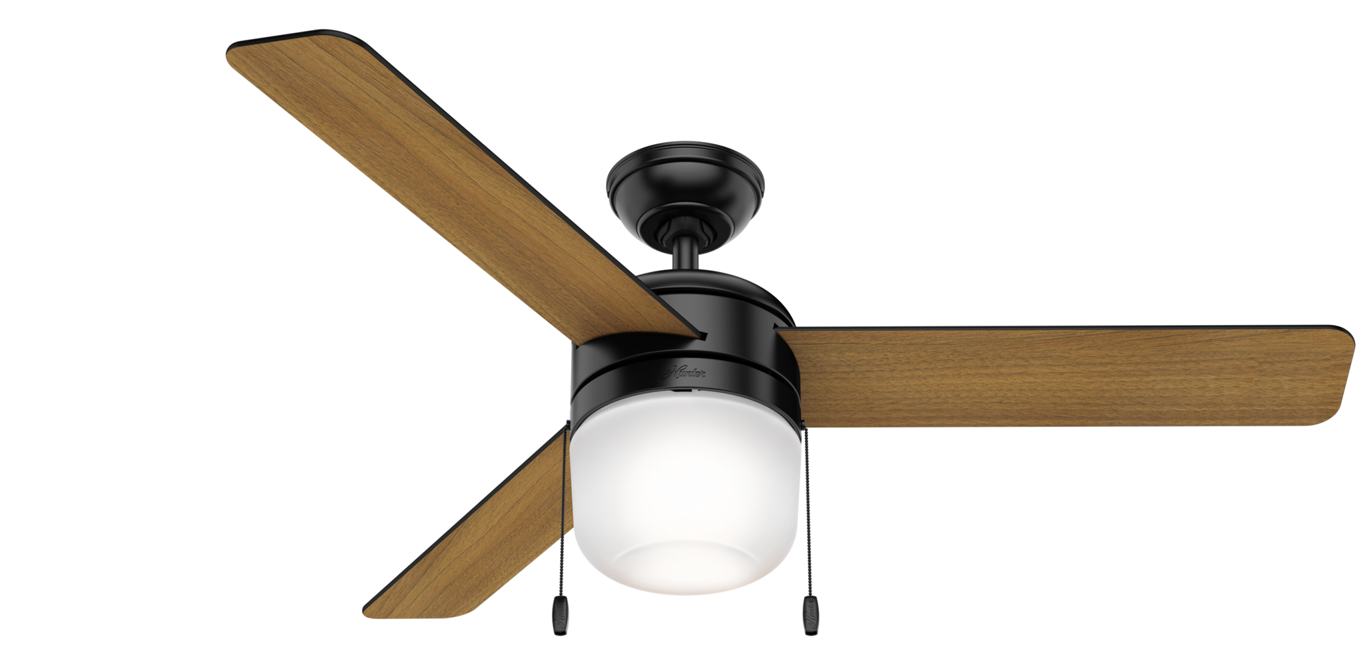 Hunter Indoor Acumen Ceiling Fan with LED LightJD inch, Black, 59404