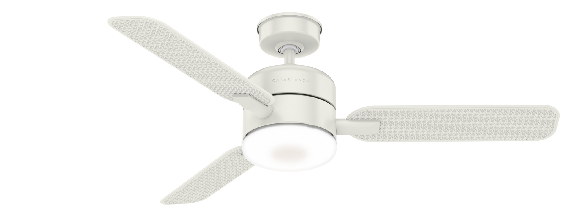 Casablanca Indoor/Outdoor Paume Ceiling Fan with LED LightJD inch, White, 59427