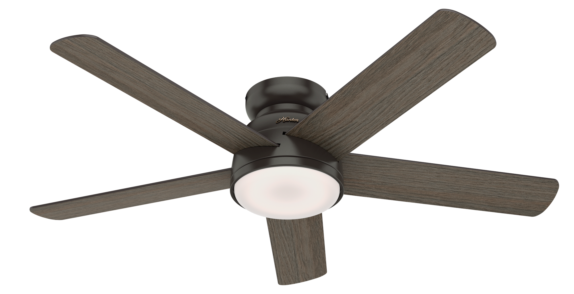 Hunter Indoor Low Profile Romulus Ceiling Fan with LED LightJD inch, Bronze/Brown, 59482