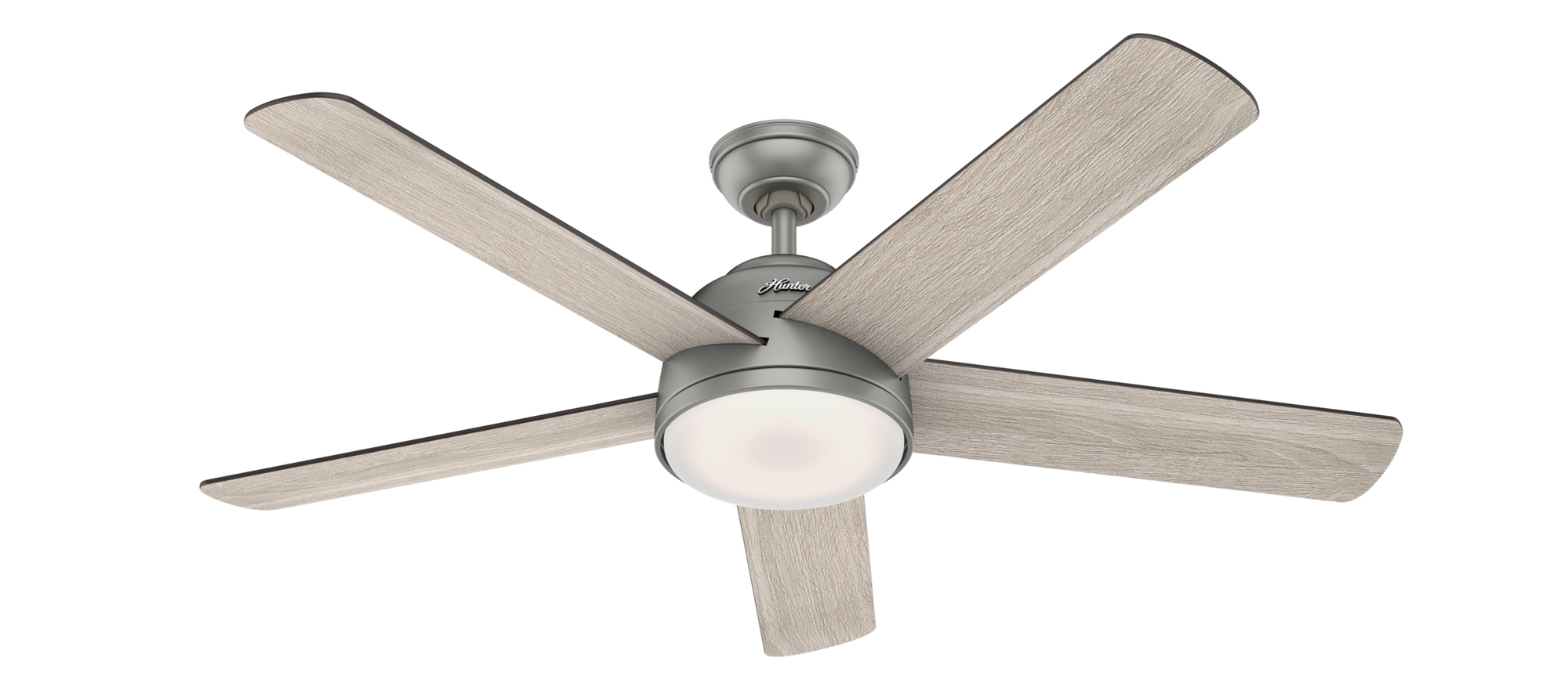 Hunter Indoor Romulus Ceiling Fan with LED LightJD inch, Brushed Nickel/Chrome, 59480