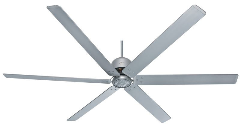 Hunter Indoor/Outdoor HFC Ceiling Fan without LightJD inch, Brushed Nickel/Chrome, 59133