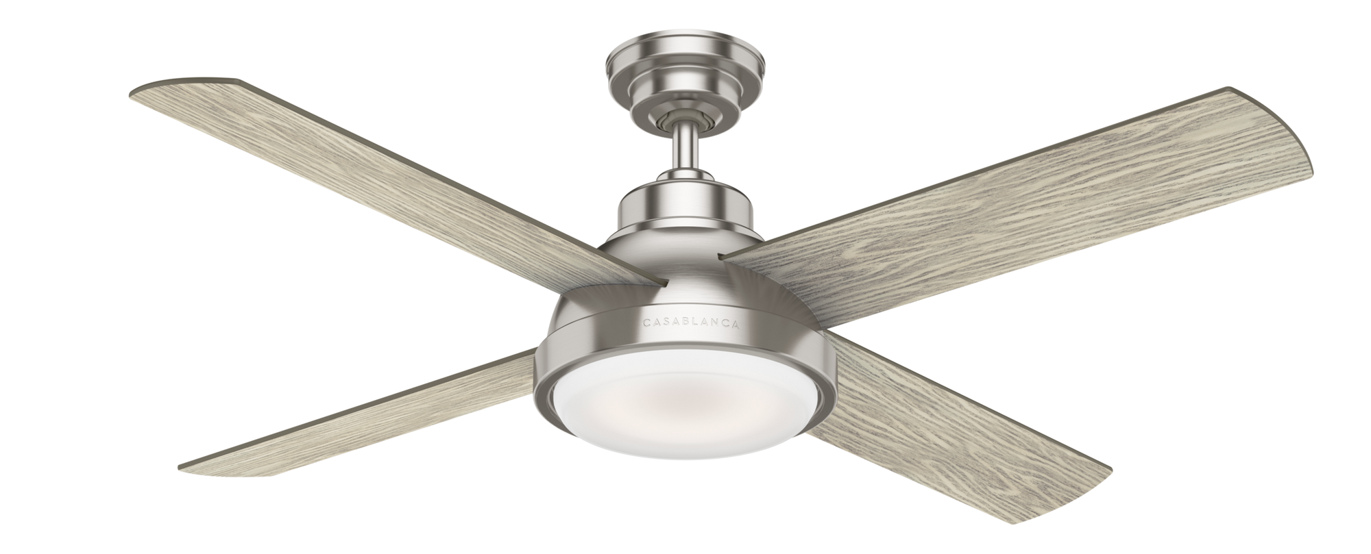 Casablanca Indoor Levitt Ceiling Fan with LED LightJD inch, Brushed Nickel/Chrome, 59433