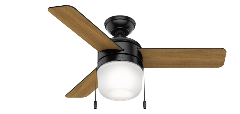 Hunter Indoor Acumen Ceiling Fan with LED LightJD inch, Black, 59410