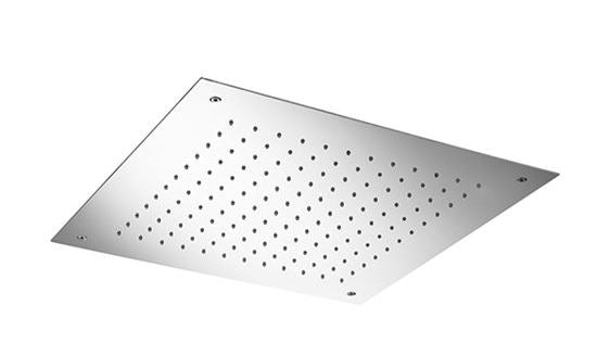 "Blu Bathworks TE704 Recessed Square 19"" Dual Flow Shower Head,"