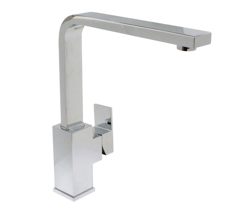 500690-PCH Ottone Meloda Ralina Single Hole, Single Handle Kitchen Faucet, Polished Chrome