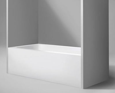 "Blu Bathworks BT0110R-01G Metrix 6 Blu Stone Alcove Bathtub, White Gloss 60"" X 32"" X 20 1/4""; Right Drain"