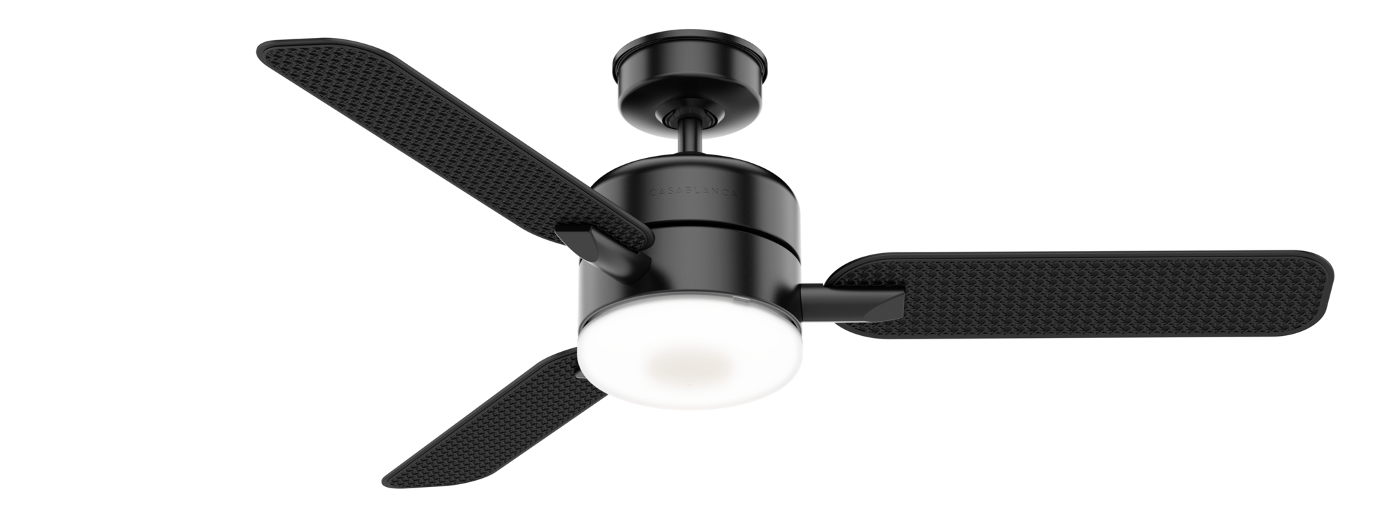 Casablanca Indoor/Outdoor Paume Ceiling Fan with LED LightJD inch, Black, 59428