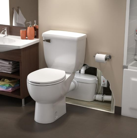 Saniflo Saniaccess3 Elongated Toilet Kit, White
