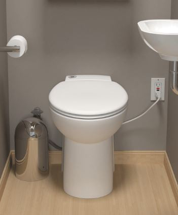 Saniflo 023 Sanicompact One Piece Macerating Toilet, White
