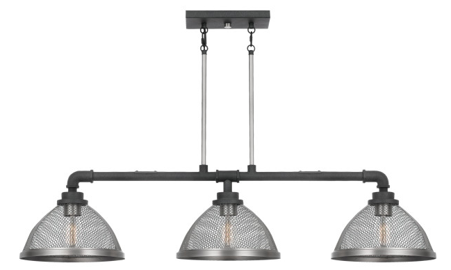 Quoizel AW344MB Awning Island Chandelier Island 3 Light Mottled Black