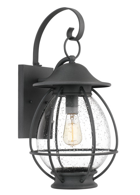 Quoizel BST8411MB Boston Outdoor Lantern Outdoor Wall 1 Light Mottled Black