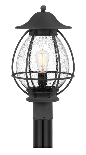 Quoizel BST9011MB Boston Outdoor Lantern Outdoor Post 1 Light Mottled Black