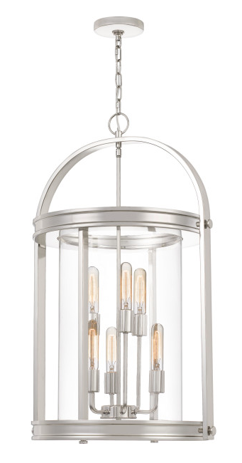 Quoizel BTE5206PK Baltimore Foyer Piece Foyer 6 Light Polished Nickel