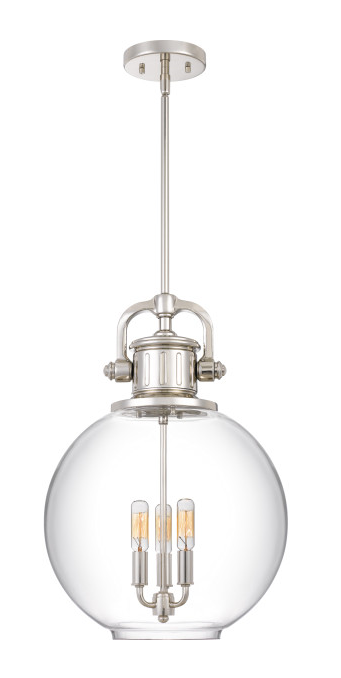 Quoizel BTO2814PK Britton Mini Pendant 3 Light Polished Nickel