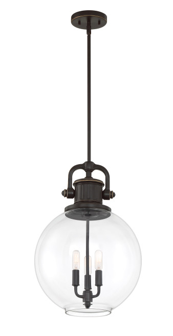 Quoizel BTO2814PN Britton Mini Pendant 3 Light Palladian Bronze