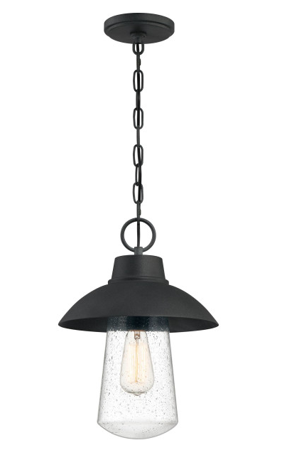 Quoizel EBY1911MB East Bay Outdoor Lantern Outdoor Hanging 1 Light Mottled Black