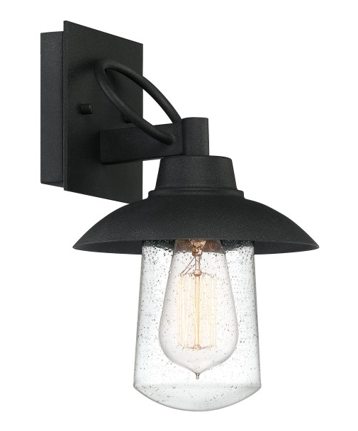 Quoizel EBY8407MB East Bay Outdoor Lantern Outdoor Wall 1 Light Mottled Black