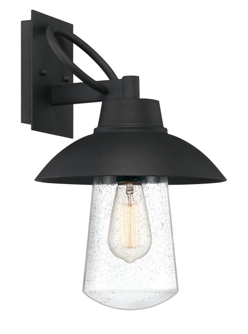 Quoizel EBY8411MB East Bay Outdoor Lantern Outdoor Wall 1 Light Mottled Black
