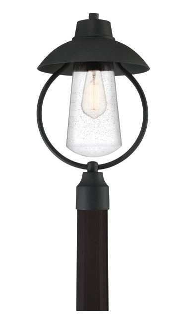 Quoizel EBY9011MB East Bay Outdoor Lantern Outdoor Post 1 Light Mottled Black