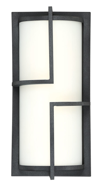 Quoizel HGR8407MB Huger Outdoor Lantern Outdoor Wall Led Light Mottled Black