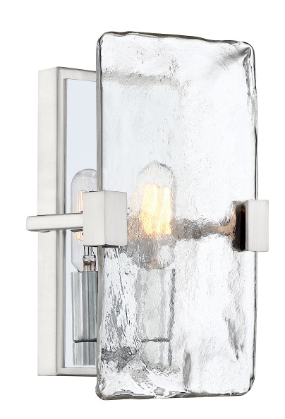 Quoizel QW4068BN Herriman Wall Sconce Wall 1 Light Brushed Nickel