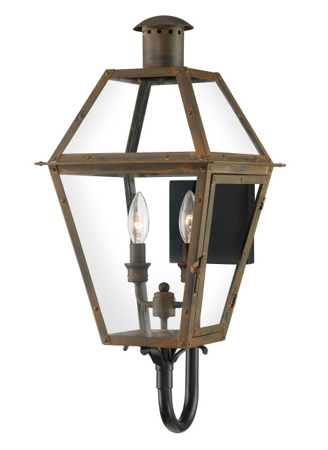 Quoizel RO8311IZ Rue De Royal Outdoor Lantern Outdoor Wall 2 Light Industrial Bronze
