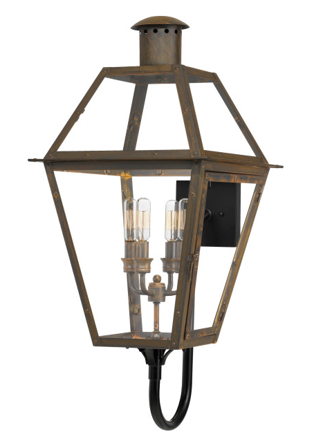 Quoizel RO8414IZ Rue De Royal Outdoor Lantern Outdoor Wall 4 Light Industrial Bronze