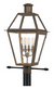 Quoizel RO9014IZ Rue De Royal Outdoor Lantern Outdoor Post 4 Light Industrial Bronze