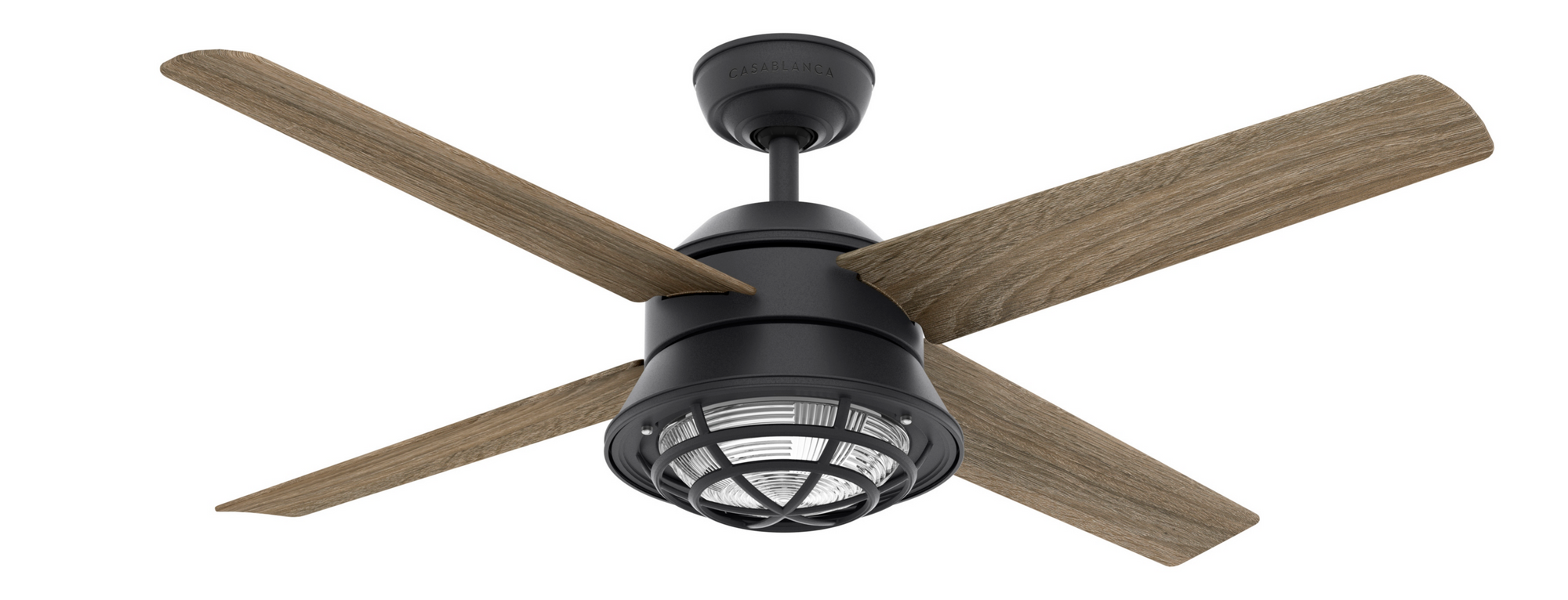 Casablanca Indoor/Outdoor Seafarer Ceiling Fan with LED LightJD inch, Iron/Pewter, 59574