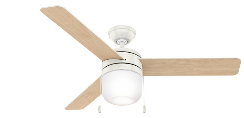 Hunter Indoor Acumen Ceiling Fan with LED LightJD inch, White, 59403