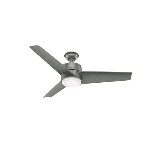 Hunter Indoor/Outdoor Havoc Ceiling Fan with LED LightJD inch, Brushed Nickel/Chrome, 59472