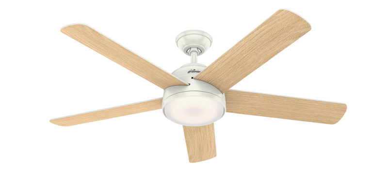 Hunter Indoor Romulus Ceiling Fan with LED LightJD inch, White, 59478